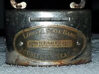 Vintage Metal Money Savings Lowell State Bank Michigan