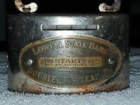 Vintage Metal Money Savings Lowell State Bank Michigan