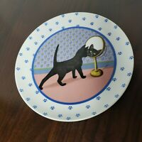 Vintage 1988 Lowell Herrero Cat In Mirror Collectible Plate Made in Japan