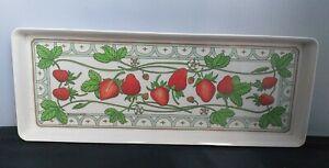 Vintage Melamaster Melamine sandwich tray Strawberry