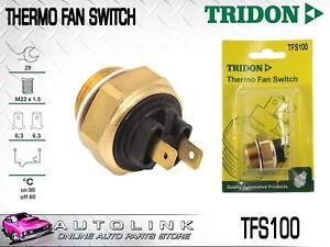 TRIDON THERMO FAN SWITCH FOR ALFA ROMEO 33 1.5 1.7L FLAT4 1984-1992 TFS100