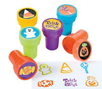 Pack of 6 - Trick or Treat Self Ink Stampers - Great Party Bag Fillers