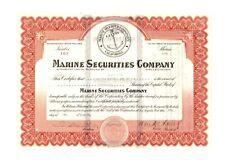1927 Marine Securities Company Stock Certificate