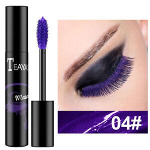 4D Mascara Waterproof Fastdry Purple Curling Lengthening Lengthen Eyelashes
