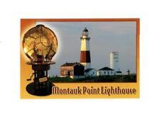 PICTURE POSTCARD- MONTAUK POINT LIGHTHOUSE & BIVALVE LENS, MONTAUK, NEW YORK BK7
