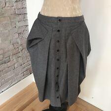 Alexander McQueen Skirt Gray Avant Garde Asymmetrical A-Line Wool Blend 46 10