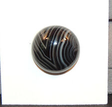 Black and White Agate 18mm with 7.5mm dome Cabochons (11094)