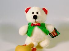 Dakin Fun Farm Snowflake Bear Plush Stuffed Animal Green Vest Bow Tie NWT 1984