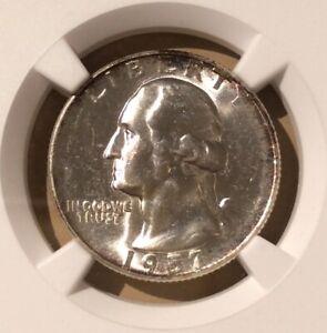 USA 1957 25 Cents NGC MS 63 - Silver - Washington Quarter