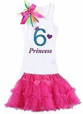 Bubblegum Divas Girls 6th Birthday Shirt Rainbow Party Outfit Personalized Set 6