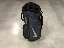 "Nike Retro III 3 Sample Promo Cart Golf Bag 9"" Top Black Silver ( BG0420-001 )"