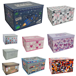 Large Collapsible Storage Box Folding Jumbo Storage Chest Kids Room Toy Box