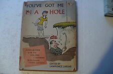 """GOLF CARTOONS""""YOU'VE GOT ME IN A HOLE""""LAWRENCE LARIAR 1956 HD/BK IN JACKET"""