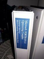 Microsoft Fortran Optimizing Compiler & Microsoft Code View Utilities 1987