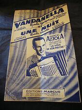 Partition Vandanella Castellengo Marcus Une nuit Azzola Baraldi Music Sheet