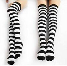 Black and White Striped Over the Knee Socks Costume Thigh-High Ladies Costume
