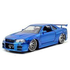 Jada Toys Fast & Furious 1 24 Diecast Nissan GT R R34 Vehicle Blue
