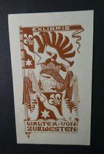 x30 Exibris Walter von zur Westen, Monogramm FV, 10x6 cm