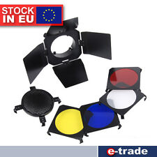 "Barn Door + Honeycomb Grid + 4 Color Filter for Ø6.5 - 10cm lamps/ ""S"""