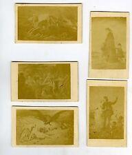 PHOTO CDV Guerre FRANCO-PRUSSE 1870 lot de 5 cartes d'après dessin dos nu