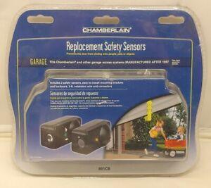 NEW Chamberlain Replacement Safety Sensors Pair w/ Brackets Garage Door Sensors
