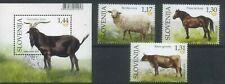 Slovenia 2018 Domestic Animals, Fauna, Sheeps, Horses, Cows MNH**