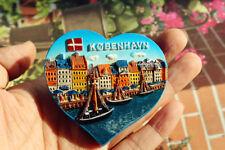 Dänemark Kopenhagen Reiseandenken 3D Polyresin Kühlschrankmagnet Souvenir Magnet