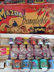 Vintage 1950s Disney Mazda DUMBO-VERY RARE Christmas Lights
