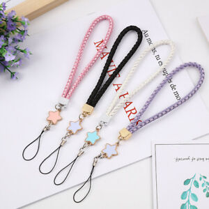 Leather Woven Star Lanyard Mobile Phone Chain Charm Hand Wrist Straps Cord Gift