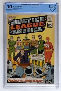 Justice League of America #8 (1962) Silver Age, First 12¢ Issue CBCS 3.0