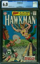 Hawkman # 1 CGC 6.0 -- 1964 -- 1st in own title.  A+ spine and cover alignment
