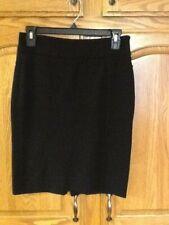 White House Black Market Women's Black Pencil Skirt Stretch Size 0 EUC
