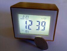 LEXON ALARM CLOCK with TEMP DISPLAY HOME/DESK/MANTLE RADIO CONTROLD bamboo case