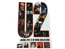 U2 Island Records Catalog rare poster from 1984 30� X 20�