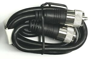 6 ft RG8X coax coaxial UHF PL-259 connectors amateur ham CB radio antenna cable