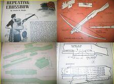 EZbuild 6 DIFFERENT Archery Plans CROSSBOW CROSS BOW 35