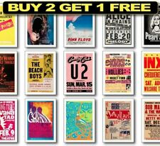 More details for rare rock band posters, rock concert posters, 60's vintage gig posters, wall art