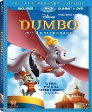 Dumbo Blu-ray DVD 2-Disc Set 70th Anniversary Disney w/Slipcover 786936797725