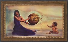 "African American Black Art Print ""IF THIS WORLD WERE MINE (FEMALE)"" by Wak"