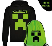 Felpa Hoodie Cappuccio + Sacca Minecraft Game Player Videogame