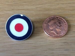MOD TARGET RAF ROUNDEL QUALITY ENAMEL LAPEL PIN BADGE MEMORABILIA SCOOTER BOY