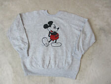 VINTAGE Disney Mickey Mouse Sweater Adult Extra Large Gray Crewneck Mens 90s