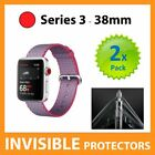 Apple Watch Series 3 38mm Screen Protector INVISIBLE Shield - PACK OF 2