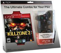 Killzone 2 And Black DualShock 3 Wireless Controller Bundle PlayStation 3 5Z