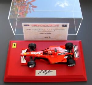 MICHAEL SCHUMACHER GENUINE HAND SIGNED 1/18 FERRARI F1 2000 DISPLAY GPL COA NEW