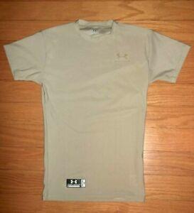 UNDER ARMOUR Tactical Women's SZ M Beige S/S Compression Shirt (202776)**EUC**