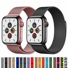 Banda de bucle milanesa iWatch correa para Apple Watch Serie 6 5 4 3 2 1 38 42 40 44mm