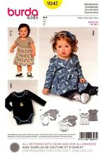Burda Sewing Pattern 9347 Burda Kids Dress and Bodysuit Sizes 3M-2