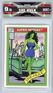 🌟 She-Hulk 1990 Marvel Universe Series 1 #39 Rookie Freshly Graded 9.5 Mint+