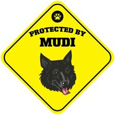 Aluminum Crossing Sign Protected by Mudi Dog Cross Xing Diamond Street Signal